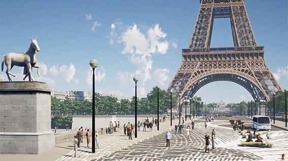 Grand site tour Eiffel : la tour Eiffel en réalité virtuelle