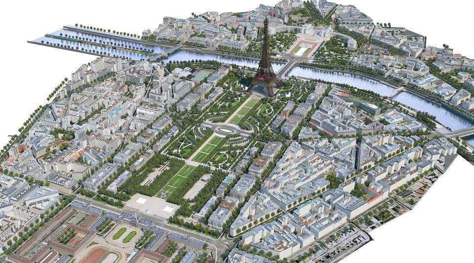 Modélisation 3D de la tour Eiffel et de ses 54 hectares : la tour Eiffel en BIM