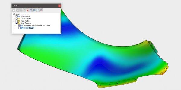 Image of Moldflow simulation on car panel